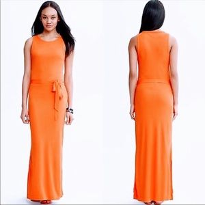 Banana Republic Orange Patio Maxi Dress E155